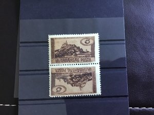 Lajtabanat 1921 Tete-beche mint never hinged stamps pair R30003
