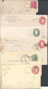 Western Towns, One Env., One Postal Card, Four Entires, C...