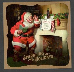 5336 Sparkling Holidays Coke-Cola Santa's Souvenir Sheet  MNH Free Shipping