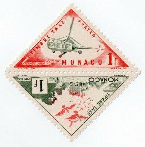 (I.B) Monaco Postal : Postage Due 1Fr (Helicopter)