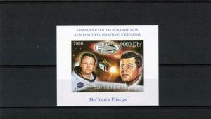 Sao Tome and Principe 2006 Halley's Comet/J.F.Kennedy/Space S/S Imperforated MNH