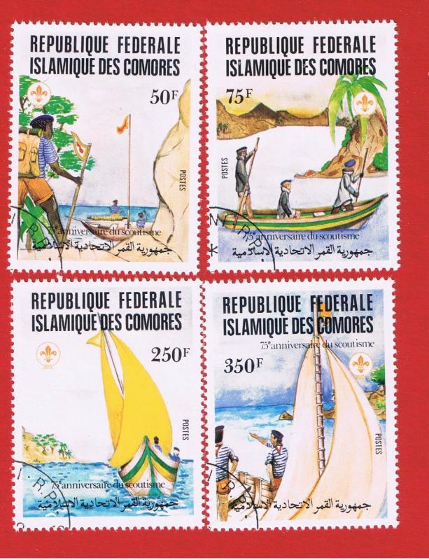 Comoro Islands #541-544 VF used Scouting  Free S/H