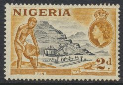 Nigeria  SG 72 SC# 83 Used  QEII 1953   Tin Mining please see scan