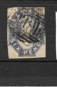 TASMANIA  1860-67  6d    QV    FU   SG 47