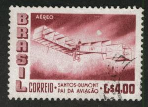 Brazil Scott C84 Used 1956 Santos-Dumont 1906  airplane