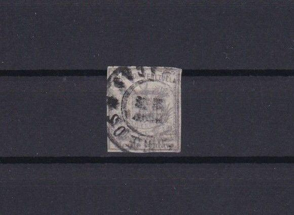 VENEZUELA 1862 IMPERF   STAMP ½ c LILAC  USED  CAT £190      REF 6286