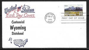 United States 2444 Wyoming Statehood  First Day Cover FDC (z11)