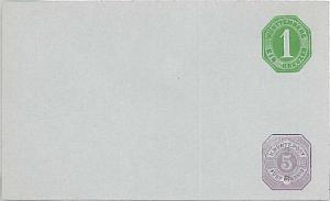 GERMANY \  WURTHENBERG - Postal Stationery Cover Umschlag ganzache:  # U 25 II