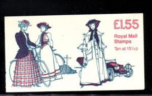 Great Britain Sc BK651 £1.55 Womens Costume bklt mint NH
