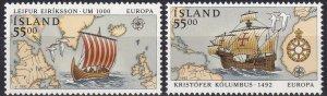 Iceland #749-50  MNH  CV $10.00  (Z7771)