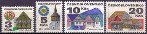 Czechoslovakia. 1972. 2080-83. architecture. MNH.