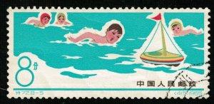 1966, Children's Games, China, Sport, 8分 (RТ-577)