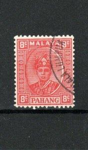 Malaysia - Pahang 1941 8c scarlet FU CDS