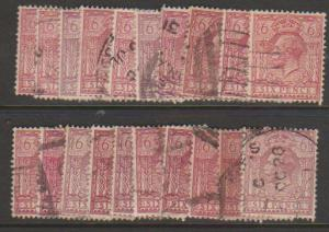 GB George V SG 426a Used -  selection of 20+ for shade study - see details