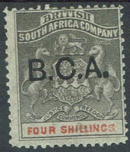 BRITISH CENTRAL AFRICA 1891 OVERPRINTED ARMS 4/-