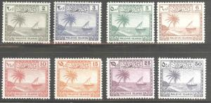 Maldive Islands Scott 20-27 MH* 1950 MH* short set 8/9