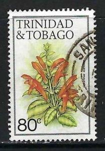 TRINIDAD & TOBAGO 400 VFU FLOWERS Z6146