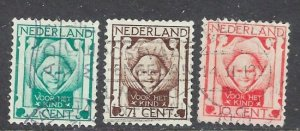Netherlands B6-8 Used 1924 set (ap6962)