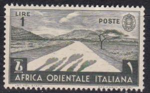 1938 Italian East Africa Scott 12 Desert Road MLH