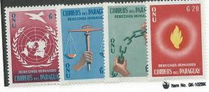 Paraguay #565-568 (MH) CV$ 1.55