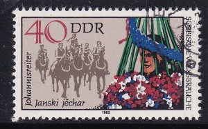 German Democratic Republic  DDR  #2279e  cancelled  1982  folklore 40pf