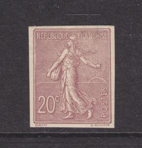 France Sc 140a MLH. 1903 20c Imperf Sower