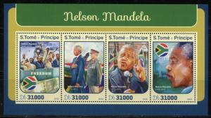 SAO TOME 2016 NELSON MANDELA SHEET MINT NH