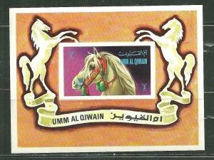 Umm Al Qiwain MNH S/S Circus Horse