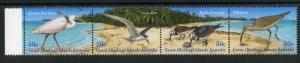 COCOS ISLAND 337 MNH STRIP/4 SCV $7.50 BIN $4.50 BIRDS