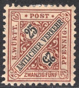 WURTTEMBERG SCOTT O129