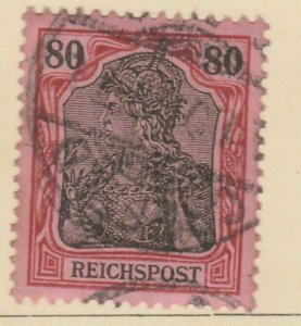 Germany 1900 80pf Unwmk fine used Deutsches Reich Freimarken A16P24F405