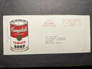 CAMPBELL's TOMATO SOUP & BBQ BEANS 1962 Ad Postal History Cover Camden, NJ