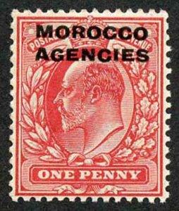 Morocco Agencies SG32 1907 1d Scarlet U/M