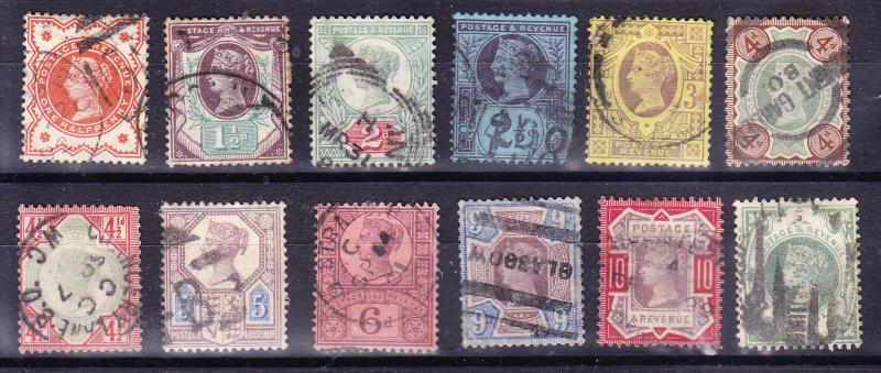 Great Britain Queen Victoria Jubilee issue Complete (12) Fine/used(o)