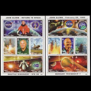 MONGOLIA 1998 - Scott# 2355-6 Sheets-Cosmonaut NH
