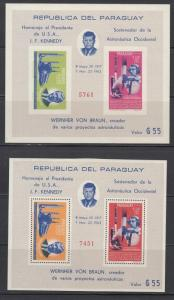 Paraguay Scott 841a Mint NH perf and imperf (Catalog Value $70.00)
