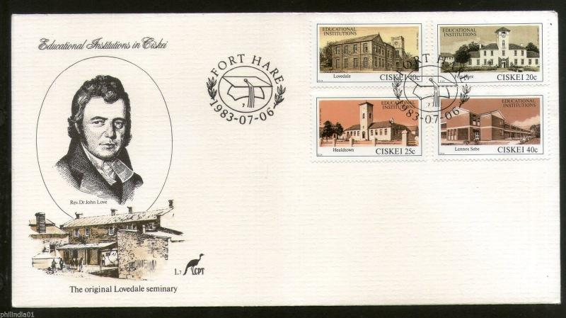 Ciskei 1983 Lovedale Seminay Education Institutions Architect Sc 59-2 FDC #16263