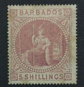 MOMEN: BARBADOS SG #64 1873 MINT OG H LOT #192430-1210