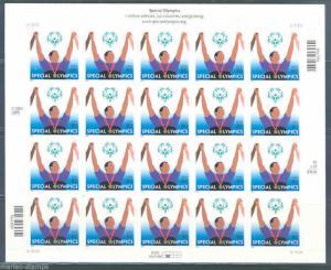 UNITED STATES SCOTT#3772 SPECIAL OLYMPICS SHEET OF TWENTY MINT NH