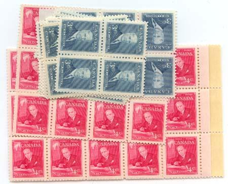 Canada - 1951 Prime Ministers X 100 mint #303-304