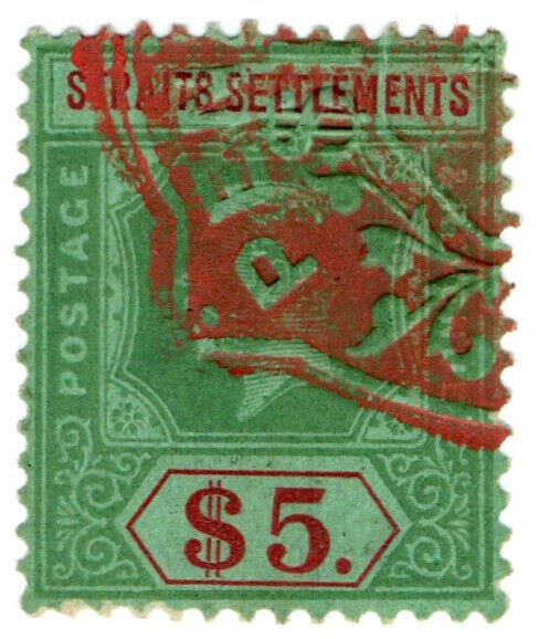 (I.B) Malaya (Straits Settlements) Revenue : Duty Stamp $5 (Penang)
