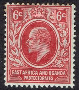 EAST AFRICA & UGANDA 1910 KEVII 6C REDRAWN DESIGN