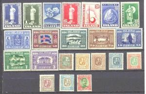 Iceland 22 mint/used values pre-1950 SCV100+