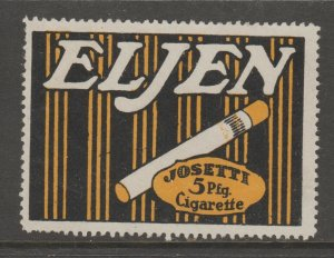 Cinderella revenue fiscal stamp 9-9-51 Cigarettes Germany