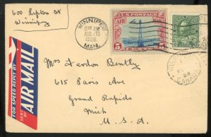 U.S. #C11 USED ON COVER