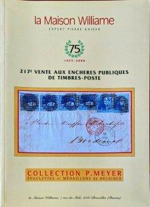 Auction Catalogue P Meyer ÉPAULETTES et MÉDAILLONS de BELGIQUE Classic Belgium