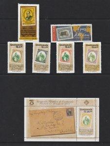 Guatemala a pair,a set & a mini sheet all MNH moderns