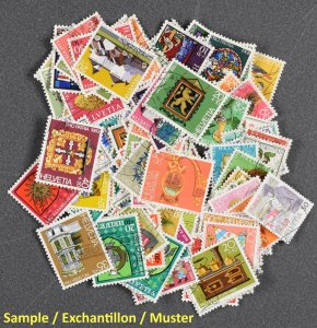 SWITZERLAND, 150 DIFFERENT SEMIPOSTALS, MOSTLY NICELY USED