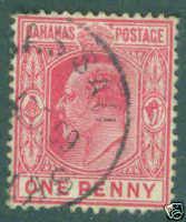 Bahamas Scott 37 KE VII 1902 used stamp CV$3.25