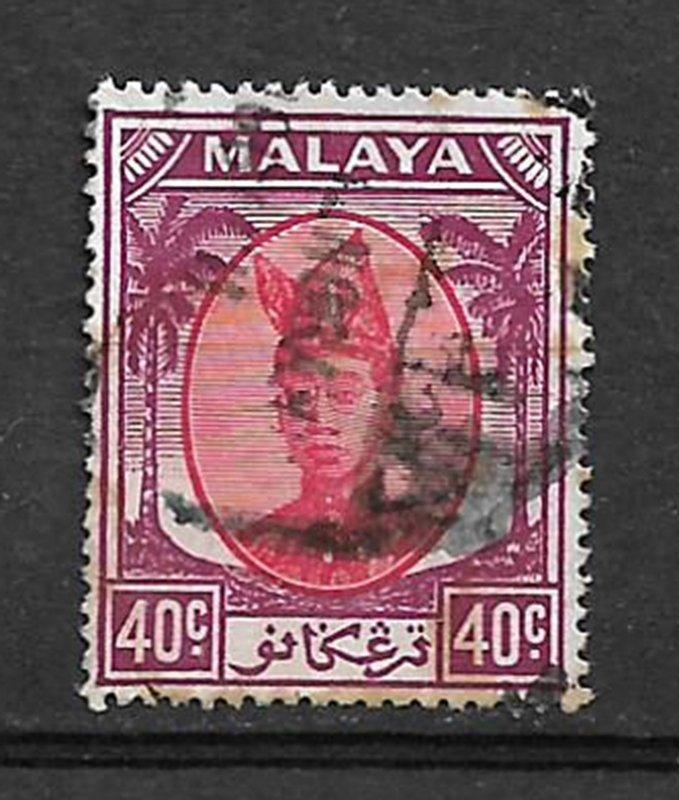 COLLECTION LOT #62 MALAYA TRENGGANU # 63 1949 CV= $27.50